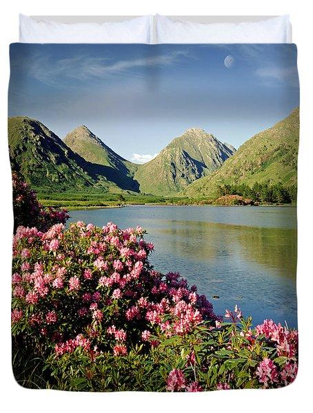 Stillness of the Mountain Duvet Cover by Edmund Nagele
