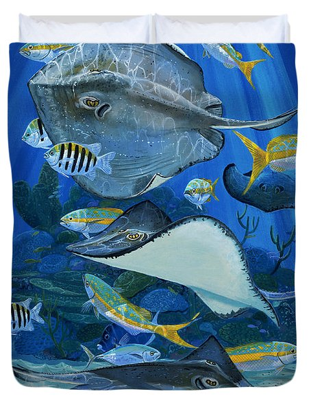 Stingray City Re0011 Duvet Cover by Carey Chen