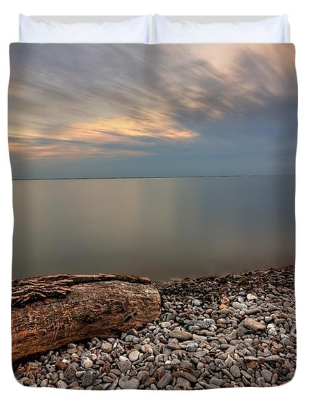 Stone Beach Duvet Cover by James Dean