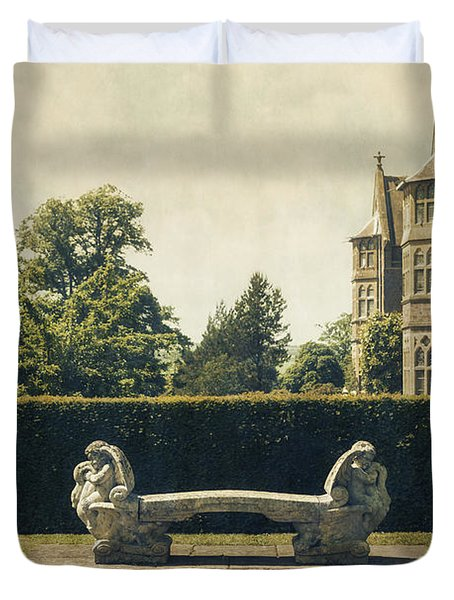 Stone Bench Duvet Cover by Joana Kruse