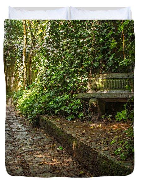 Stone Path Duvet Cover by Jess Kraft