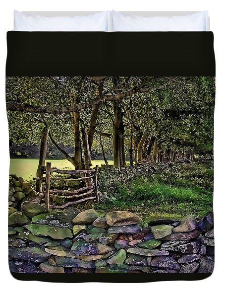 Stone Walled Duvet Cover by Tom Prendergast