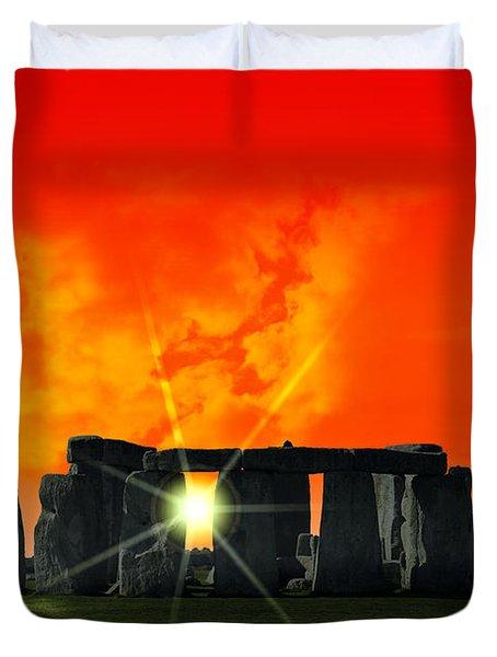 STONEHENGE SOLSTICE Duvet Cover by Daniel Hagerman