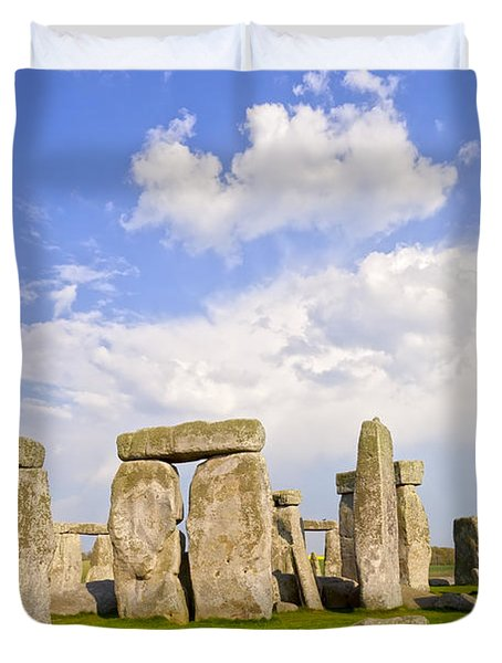 Stonehenge Stone Circle Wiltshire England Duvet Cover by Colin and Linda McKie