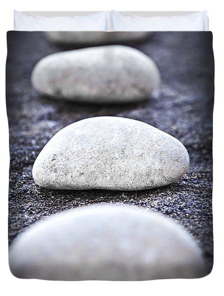 Stones Duvet Cover by Elena Elisseeva
