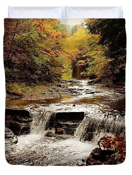 Stony Brook Gorge Duvet Cover by Justin Connor