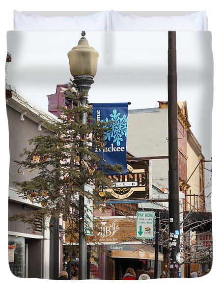 Storefront Shops in Truckee California 5D27489 Duvet Cover by Wingsdomain Art and Photography