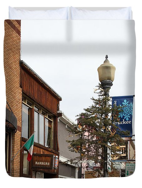 Storefront Shops in Truckee California 5D27490 Duvet Cover by Wingsdomain Art and Photography