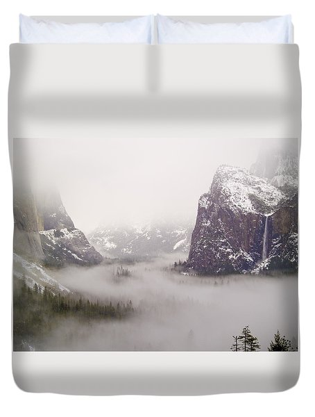 Storm Brewing Duvet Cover by Bill Gallagher