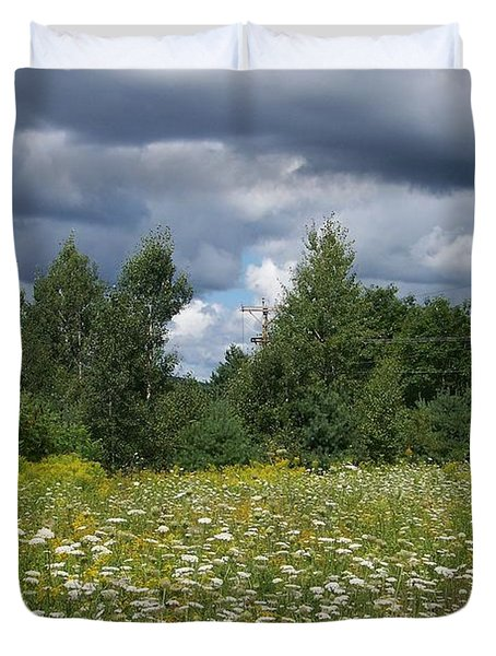 Storm Brewing Duvet Cover by Eunice Miller