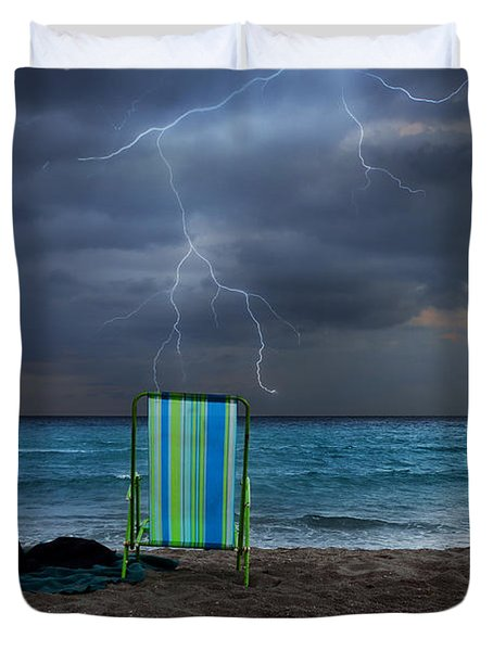 storm chairs Duvet Cover by Laura  Fasulo