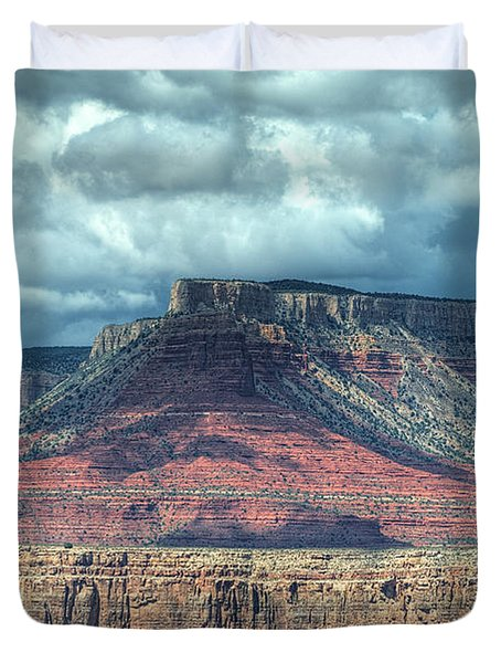 Storm Clouds Over Grand Canyon Duvet Cover by Donna Doherty