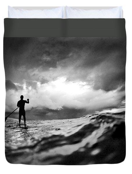 Storm Paddler Duvet Cover by Sean Davey