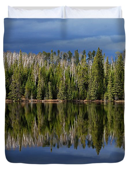 Storm Reflections Duvet Cover by Larry Ricker