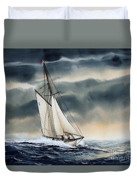 Storm Sailing Duvet Cover by James Williamson