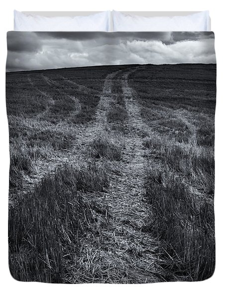 Storm Tracks Duvet Cover by Mike  Dawson
