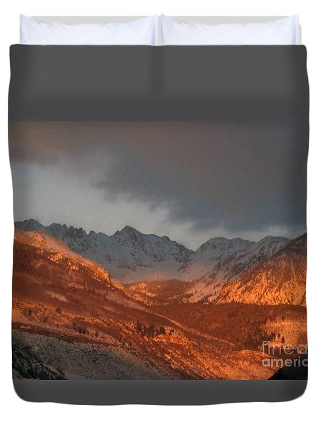 Stormy Monday Duvet Cover by Fiona Kennard