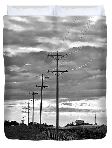 Stormy Skies Duvet Cover by Lisa Knechtel