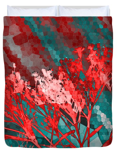 Stormy Weather Duvet Cover by Shawna  Rowe