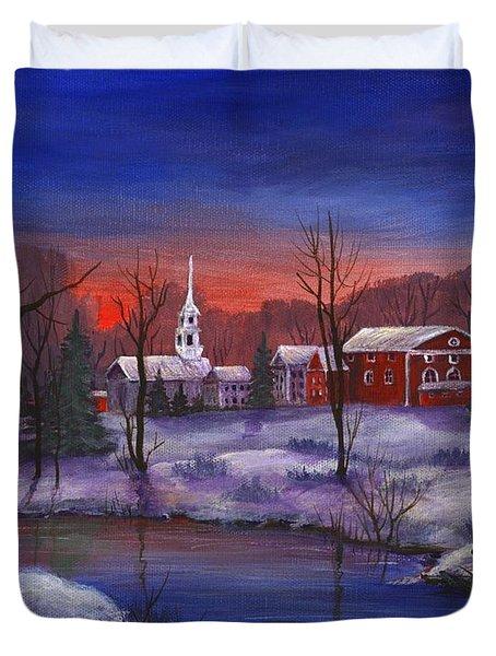 Stowe - Vermont Duvet Cover by Anastasiya Malakhova