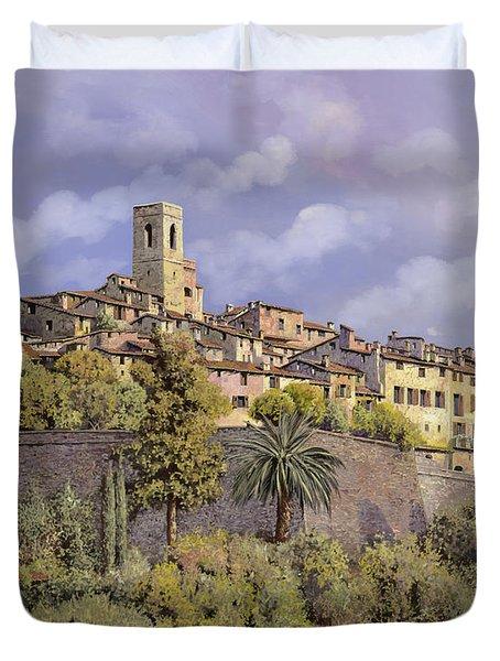 St.Paul de Vence Duvet Cover by Guido Borelli
