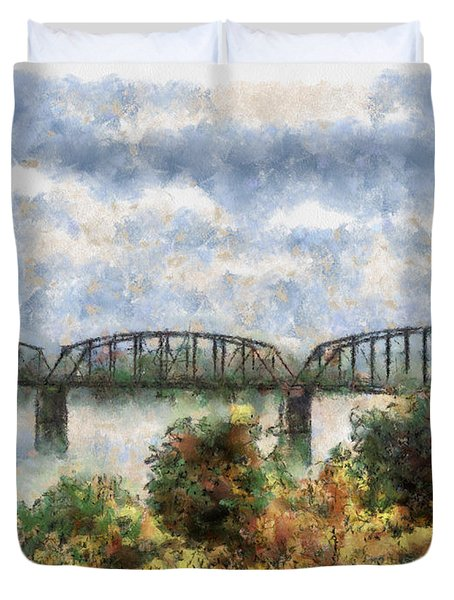 Strang Bridge Duvet Cover by Jeff Kolker