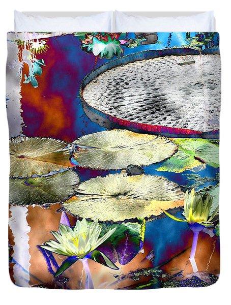 Strange Daze Duvet Cover by Bobbie Barth