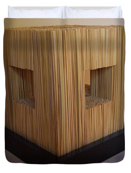 Straw Cube Duvet Cover by Daniel P Cronin