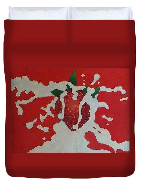 Strawberry Duvet Cover by Sven Fischer