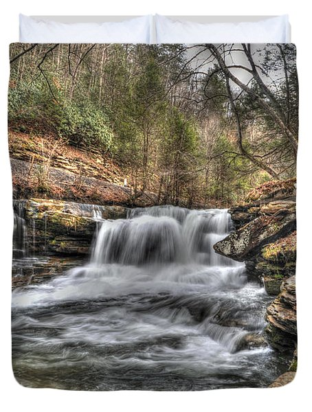 Stream Near Thurmond Wv Duvet Cover by Dan Friend
