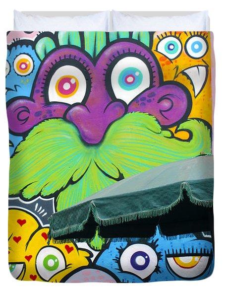 Street Art Lima Peru 2 Duvet Cover by Kurt Van Wagner