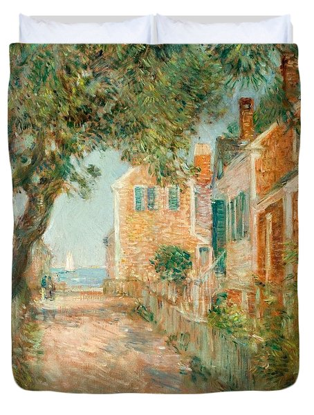 Street In Provincetown Duvet Cover by  Childe Hassam