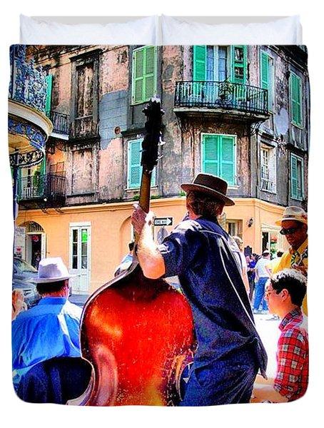Street Jammin Duvet Cover by Robert McCubbin