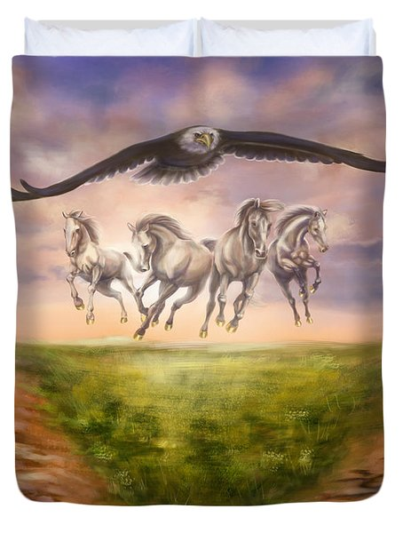 Strength Of The Horse Duvet Cover by Tamer and Cindy Elsharouni
