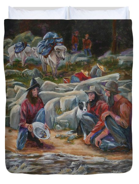 Strike It Rich Duvet Cover by Gail Daley