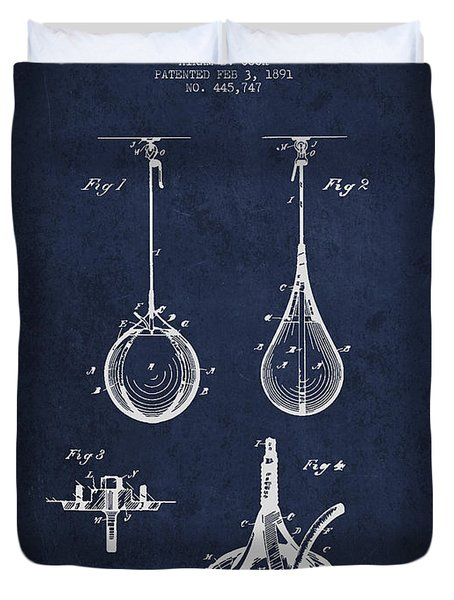 Striking Bag Patent Drawing from1891 Duvet Cover by Aged Pixel