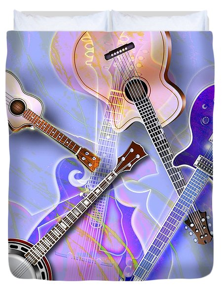 Stringed Instruments Duvet Cover by Design Pics Eye Traveller