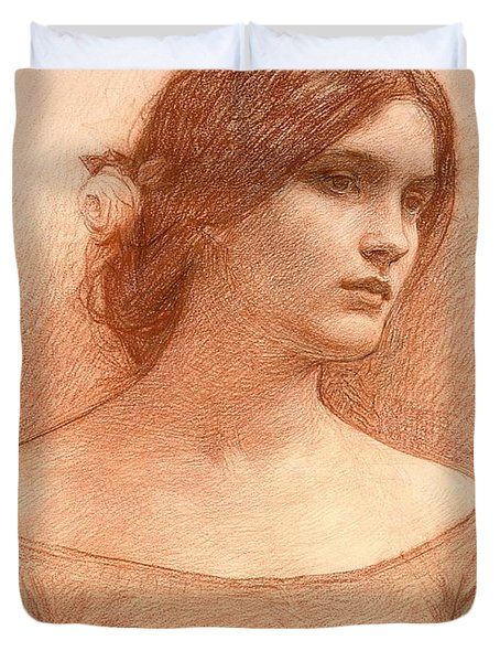 Study For The Lady Clare Duvet Cover by John William Waterhouse