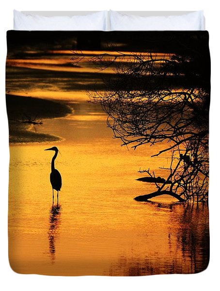 Sublime Silhouette Duvet Cover by Al Powell Photography USA