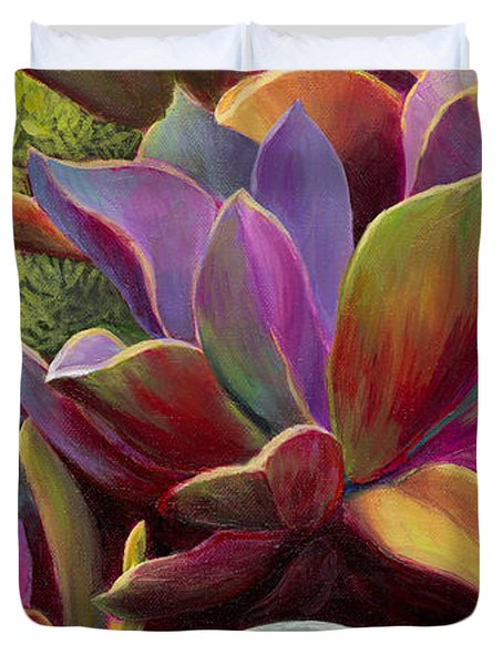 Succulent Jewels Duvet Cover by Sandi Whetzel