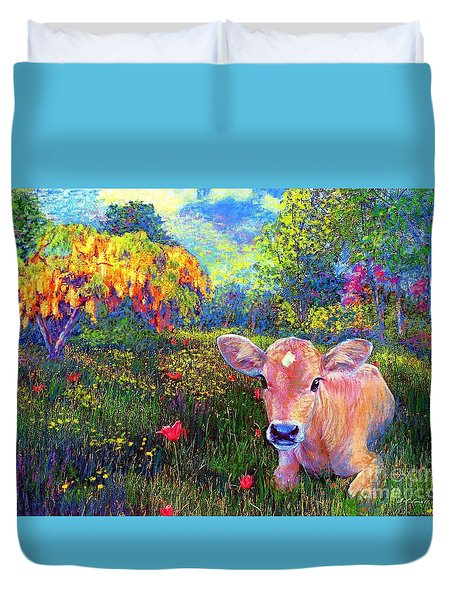 Such A Contented Cow Duvet Cover by Jane Small