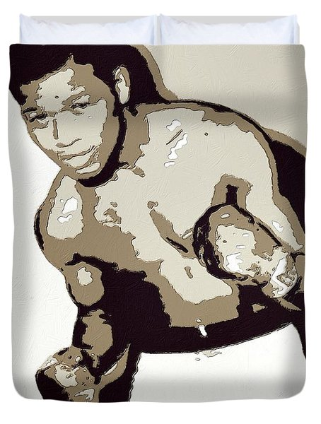 Sugar Ray Robinson Duvet Cover by Florian Rodarte