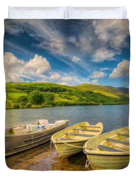 Summer Boating Duvet Cover by Adrian Evans