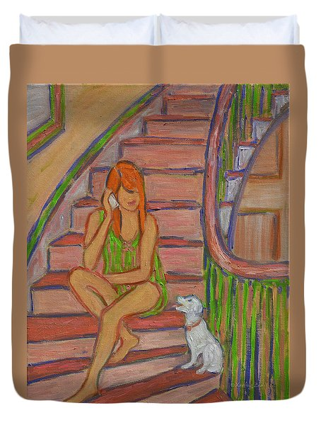 Summer Chat Duvet Cover by Xueling Zou