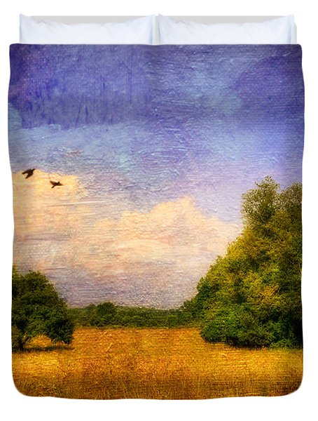 Summer Country Landscape Duvet Cover by Lois Bryan