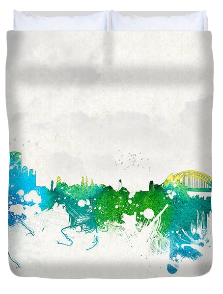 Summer day in Sydney Australia Duvet Cover by Aged Pixel