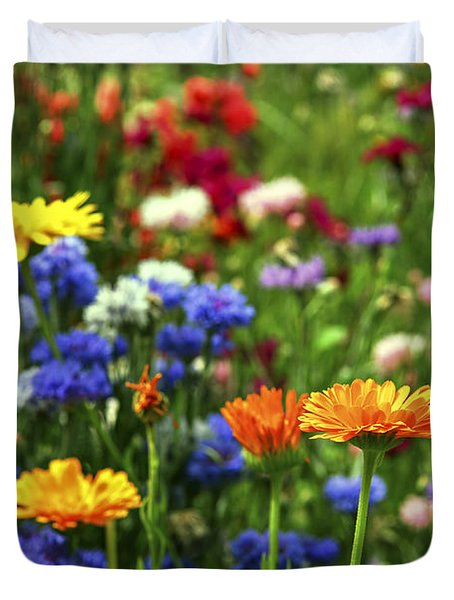Summer flowers Duvet Cover by Elena Elisseeva