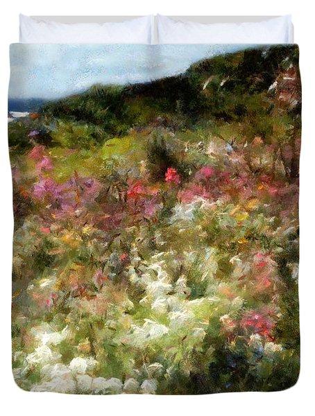 Summer Garden On La Cote D'azur Duvet Cover by RC DeWinter