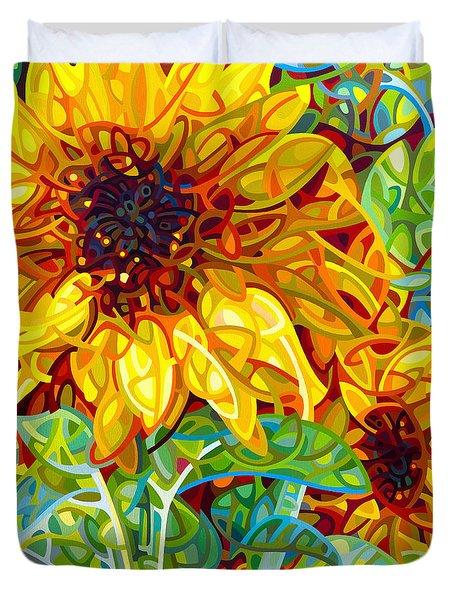 Summer In The Garden Duvet Cover by Mandy Budan