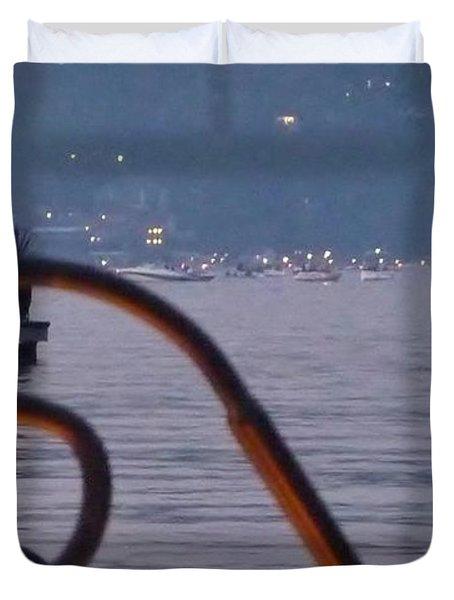 Summer Lake Twinkles Duvet Cover by Susan Garren
